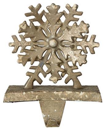 Snowflake Stocking Hanger traditional-christmas-stockings-and-holders