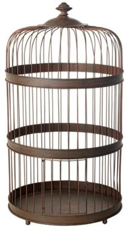 Bronze Finish Iron Decorative Birdcage traditional-home-decor