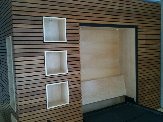 Modern Wood Wall Trim amp Murphy Bed