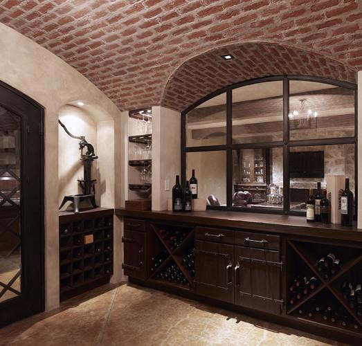 Tuscan Villa mediterranean-wine-cellar
