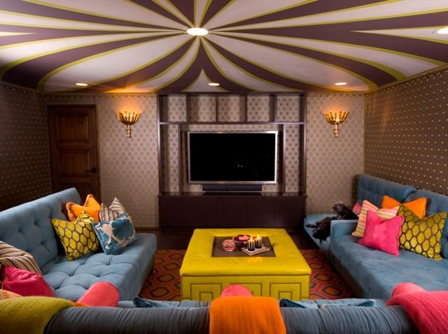 Lori Dennis Interior Design mediterranean-family-room