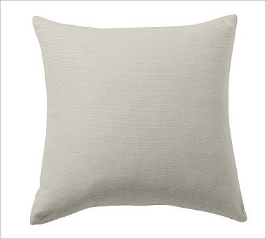 """Custom Fabric 24"""" Pillow Cover, Knife-Edge, Brushed Canvas Natural traditional-decorative-pillows"""