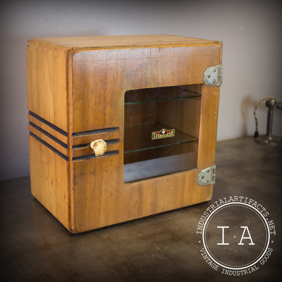 Vintage Industrial Medical Sterilizer Apothecary Cabinet by Industrial Artifact eclectic-home-decor