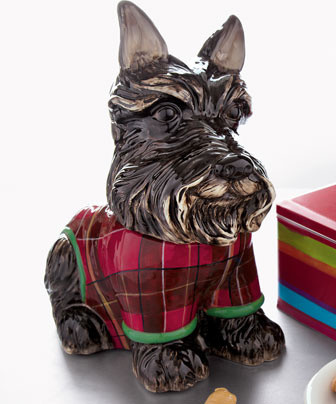 Scottie Dog Cookie Jar traditional-food-containers-and-storage