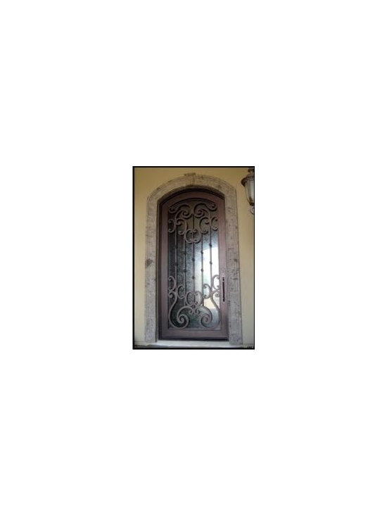 Arched Iron Entry Door -