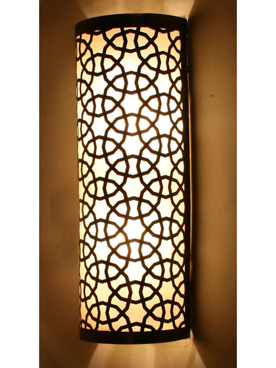 Big Half Cylinder Ottoman Laser Cut Brass Wall (Ceiling) Lamp - *Code: HD-20002_40