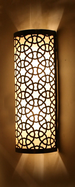 Big Half Cylinder Ottoman Laser Cut Brass Wall (Ceiling) Lamp mediterranean-wall-sconces