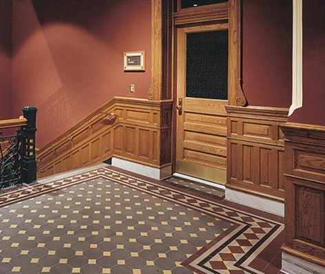Quarry tile traditional-flooring