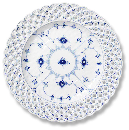 Royal Copenhagen Blue Fluted Full Lace Pierced Plate - Royal Copenhagen traditional dinnerware