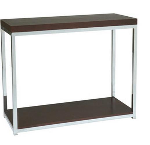 Foyer Accent Furniture : Avenue six wall street foyer table chrome espresso