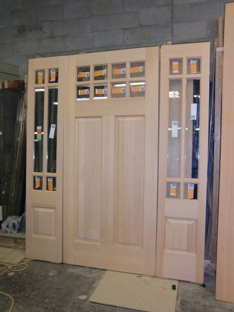 Solid Vg Fir 8 Lite Craftsman Entry Traditional Front