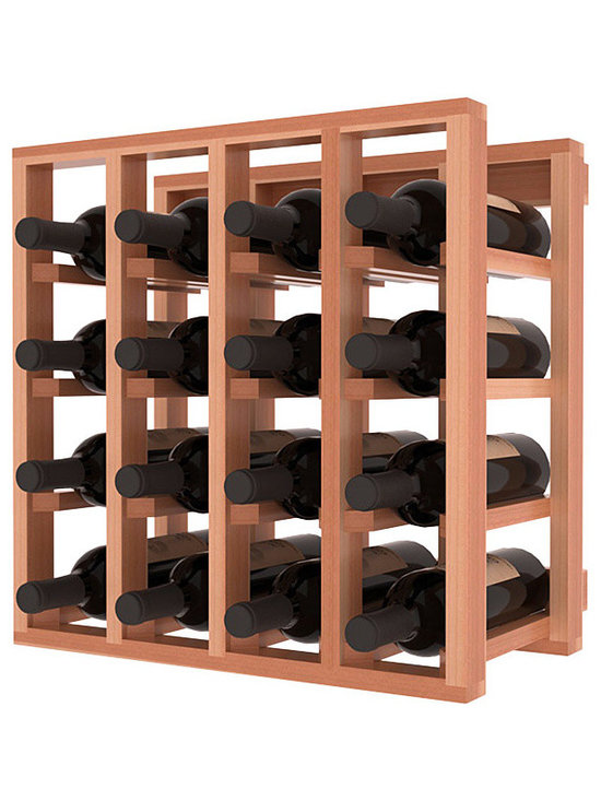 Lattice Stacking Wine Cubicle in Redwood with Satin Finish - Designed to stack one on top of the other for space-saving wine storage our stacking cubes are ideal for an expanding collection. Use as a stand alone rack in your kitchen or living space or pair with the 20 Bottle X-Cube Wine Rack and/or the Stemware Rack Cube for flexible storage.