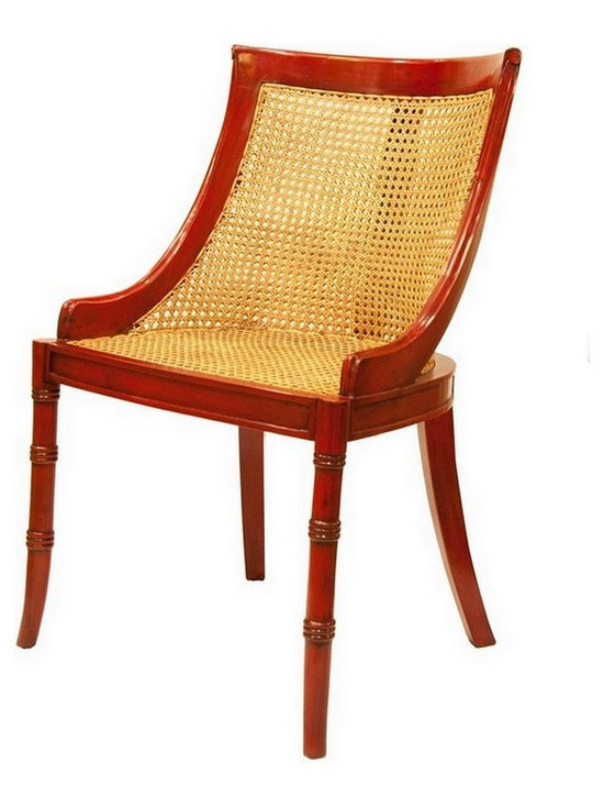 Samuel Caned Dining Chair Crimson - Charlotte & Ivy adores our classicly fabulous Samuel dining chair in crimson .  A superb best selling chair is based on an 18th century Directoire classic design! The faux bamboo legs and elegant caned curved back are both stylish and comfortable.