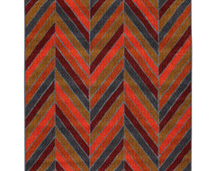 Pyros Zig Zag 5' x 8' Area Rug traditional-rugs