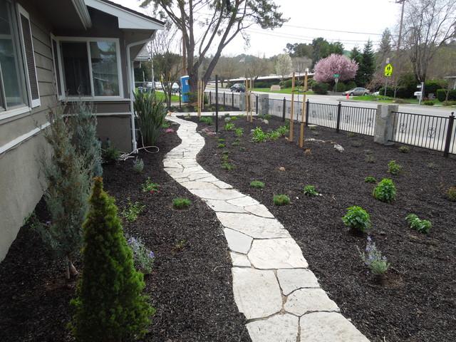 Colorful No Lawn Low Maintenance Frontyard