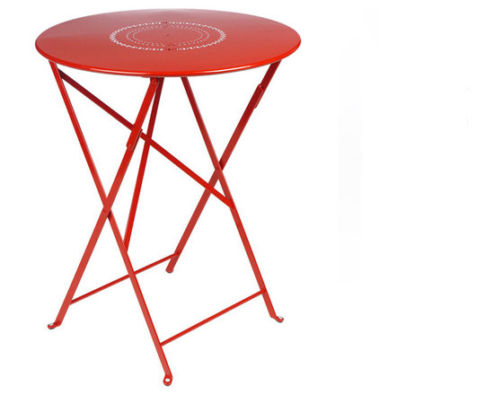 """Fermob 24"""" Floreal Bistro Table - 0230 Fermob Floreal Bistro Table in Poppy Red"""