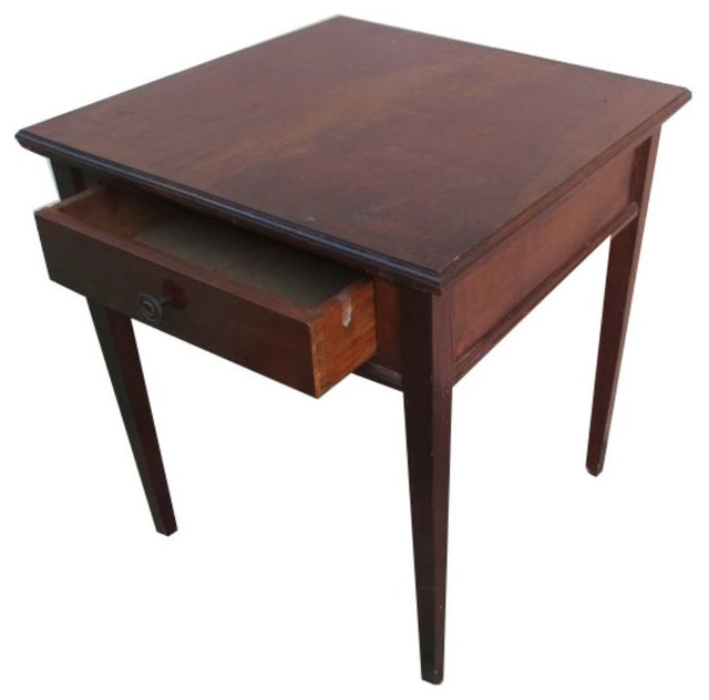 Antique wooden side table 450 est retail 250 on for Cie 85 table 4