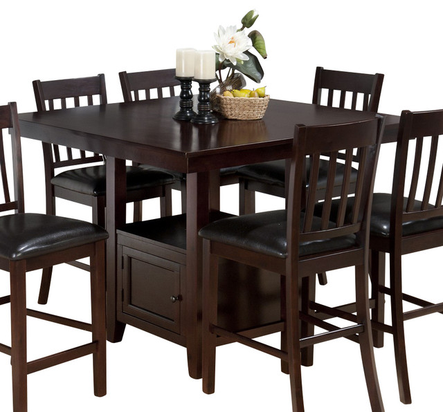 48 Square Dining Room Table: Jofran Tessa Chianti 48 Inch Square Counter Height Table W/ Fixed Top And Storag