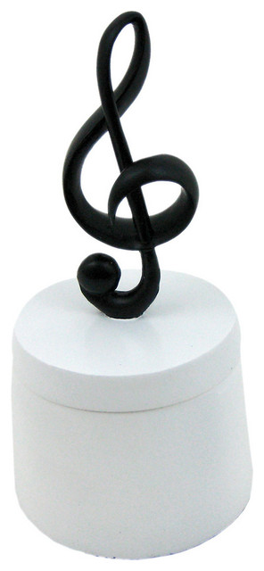Black / White Treble Clef Musical Note Trinket Box - Contemporary - Storage Bins And Boxes - by ...
