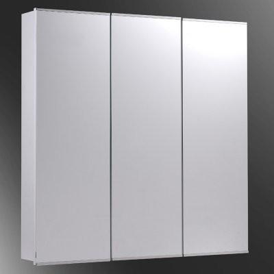Ketcham 30W x 30H-in. Tri-View Recessed Medicine Cabinet modern-medicine-cabinets