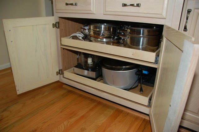 Pull Out Shelves with Stile Removal cabinet-and-drawer-organizers
