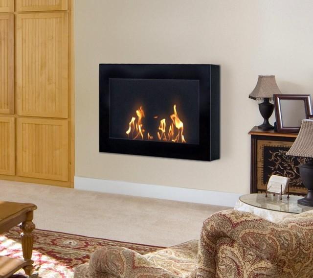 SoHo Black Biofuel Wall Fireplace fireplaces