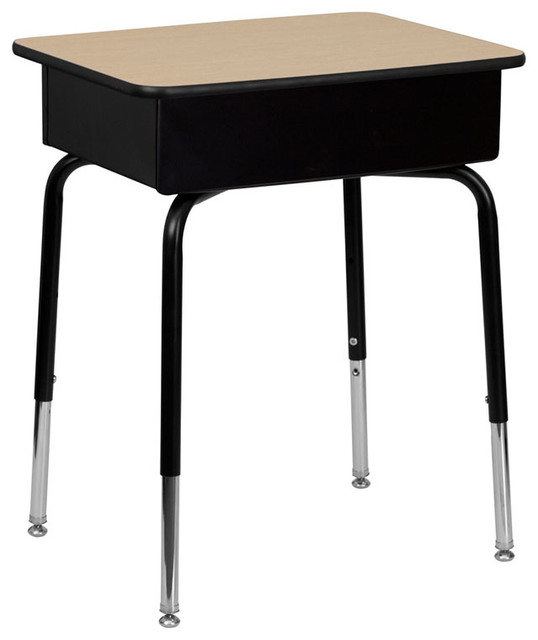 Student Desk With Open-Front Metal Book Box contemporary-desks