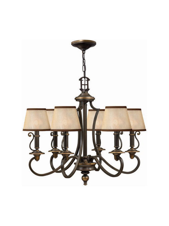 Hinkley Lighting 4246OB 6 Light Chandelier Plymouth Collection -