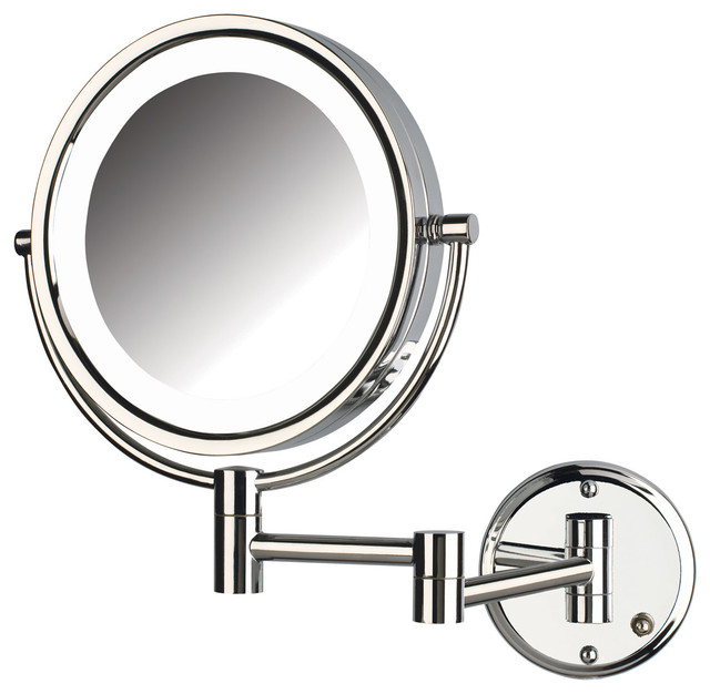 jerdon hl88cld 8x magnified lighted wall mount mirror. Black Bedroom Furniture Sets. Home Design Ideas