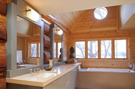 Log Cabin Couture Contemporary Bathroom Minneapolis