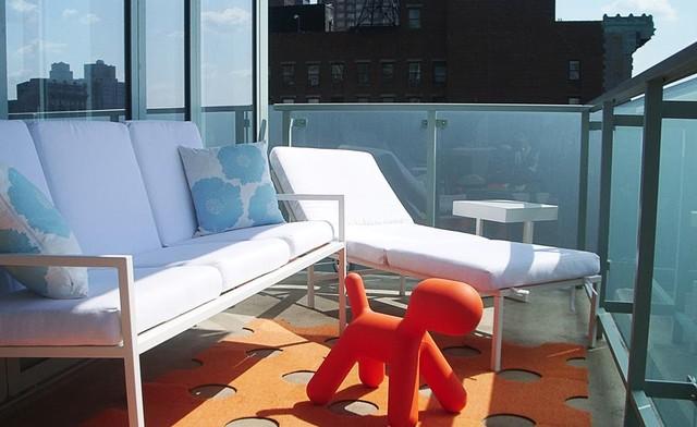 Fifth Avenue Apartment Balcony contemporary-exterior