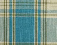 Blue Plaid Fabrics modern upholstery fabric