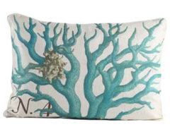 N.4 Blue Coral Pillow eclectic-decorative-pillows