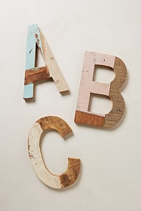Reclaimed Wood Block Letters rustic-accessories-and-decor