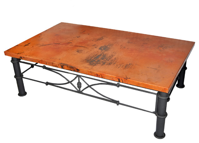 Copper Tables Traditional Coffee Tables Los Angeles