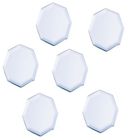 Octagon-Shaped Beveled Mirror Plates contemporary-dinner-plates