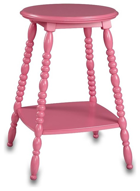 Petite Bedside Table, Bright Pink | PBteen eclectic-nightstands-and-bedside-tables