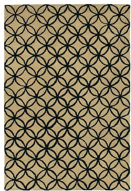 Chandra Rugs - Janelle Beige/Black Rugs - JAN2614 traditional-rugs