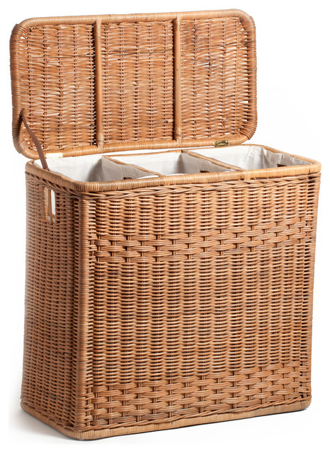 3 Compartment Laundry Hamper Baskets