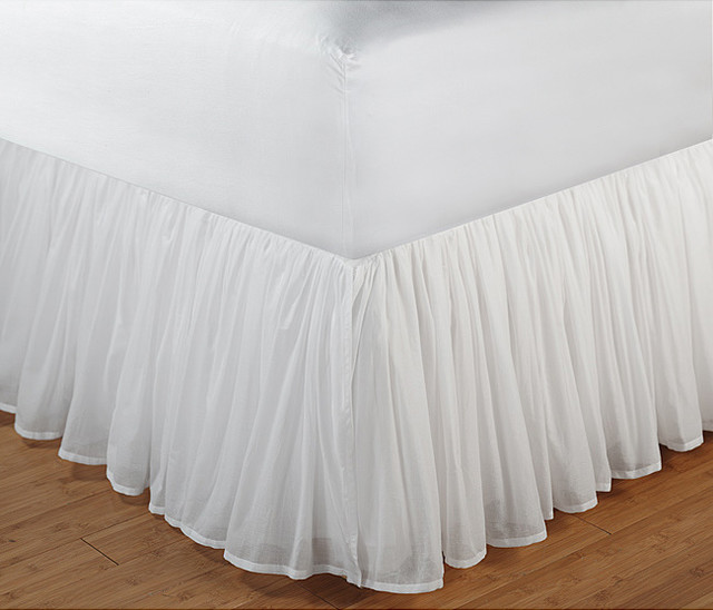 White Bed Skirt  Inch Drop