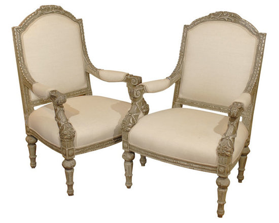 Current Inventory for Purchase - 19th Century Louis XVI Style Armchairs