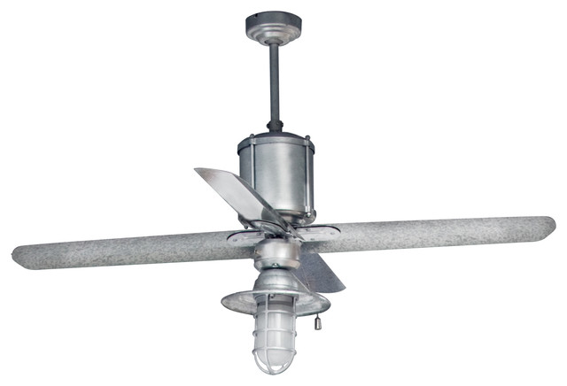 Machine Age Galvanized Ceiling Fan  ceiling fans