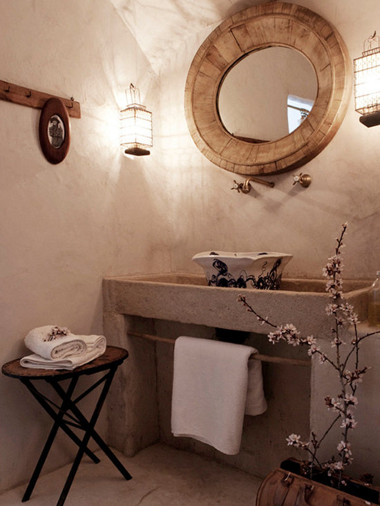 Stone Sinks for Bathrooms and Powder Rooms (Mediterranean Style) - Images by 'Ancient Surfaces'