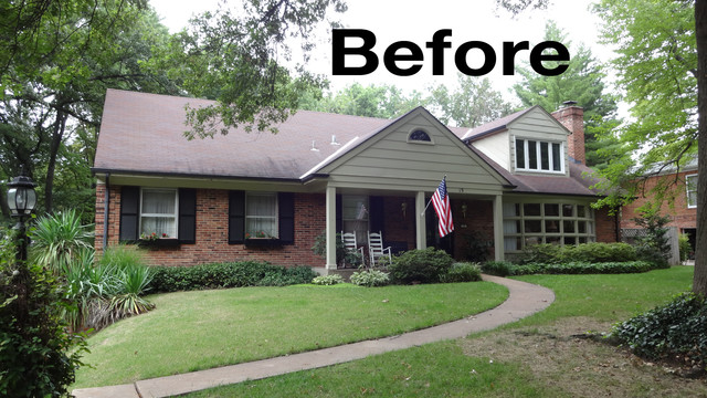 Exterior facelift traditional st louis by exteriors for Exterior updates for ranch style homes