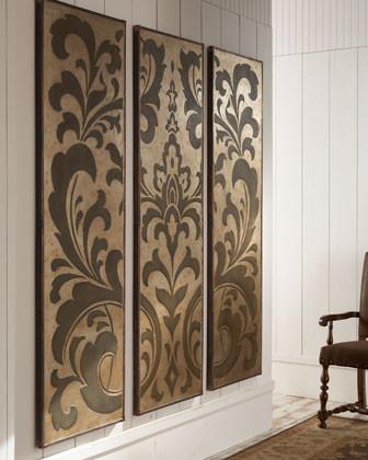 Polished Damask Wall Panels traditional-artwork