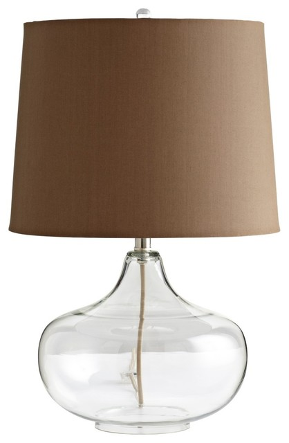 see through clear glass table lamp contemporary table lamps. Black Bedroom Furniture Sets. Home Design Ideas
