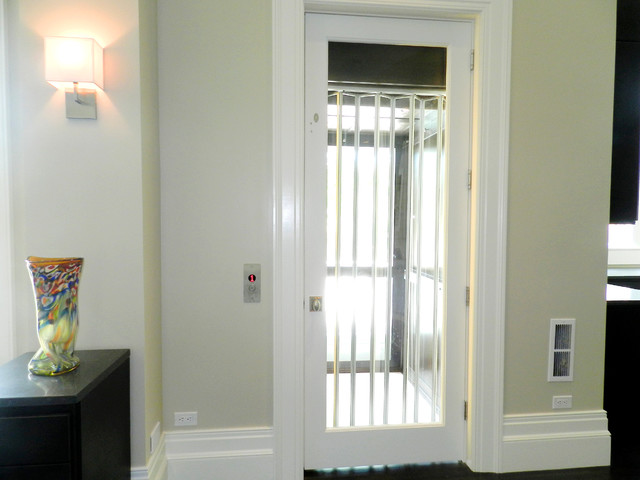 Home Elevator with a glass cab and entry door - Traditional - other ...