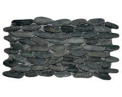 Charcoal Black Standing Pebble TIle tile
