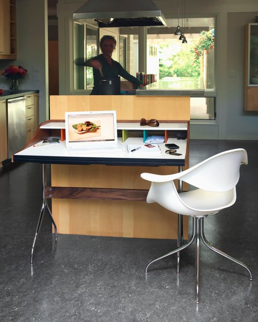 Kitchen with Herman Miller Nelson Swag Leg Desk and Armchair contemporary-kitchen