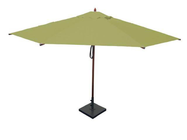 13 octagon mahogany umbrella lime green contemporary